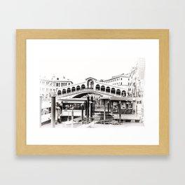 Ponte di Rialto (Rialto Bridge) Framed Art Print