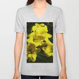 Floral Print 052 Unisex V-Neck