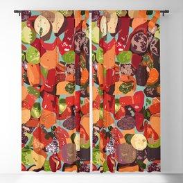 Grilled Vegetables Blackout Curtain