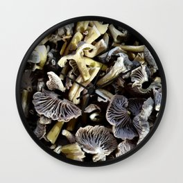 Chopped mushrooms - Forest harvest Wall Clock