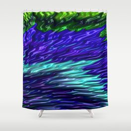 Squalling Harpoon Fractal Design 6 Shower Curtain