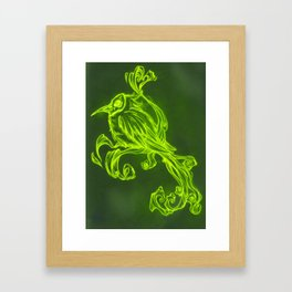 Voodoo feather Framed Art Print
