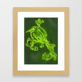 Voodoo feather Framed Art Print