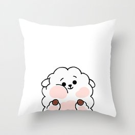 Squished Sheep Throw Pillow