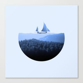 Serenity - Surreal Collage Poster Canvas Print