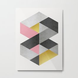 Polygon geometry XVIII Metal Print