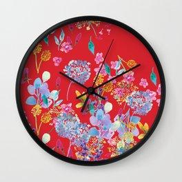 Fridas Flowers Wall Clock