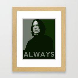 Severus Snape Always Framed Art Print