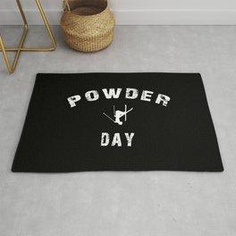 Powder Day Black Rug