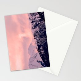 Kenai Mts Bathed in Serenity Rose - II Stationery Cards