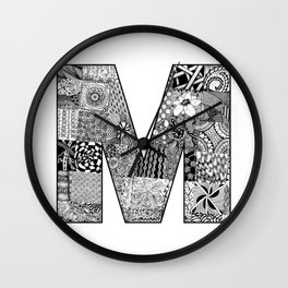 Cutout Letter M Wall Clock