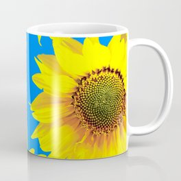 Sunny Sunflowers with blue sky - summer mood - #Society6 #buyart Coffee Mug