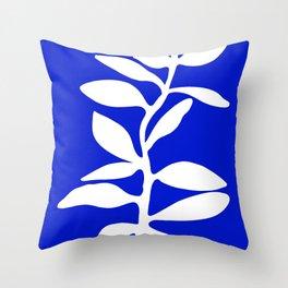blue stem Throw Pillow