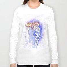 Jellyfish watercolor Long Sleeve T-shirt
