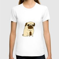 pugs T-shirts featuring Pugs Not Drugs by gemma correll