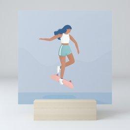 Skater Girl Mini Art Print