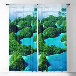 Glimpses of Heaven: Palau 70 Islands In Micronesia Blackout Curtain