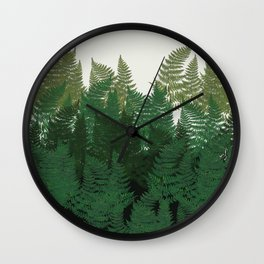 leaves forest Wall Clock