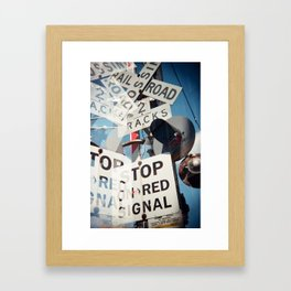 Railroad Crossing Framed Art Print