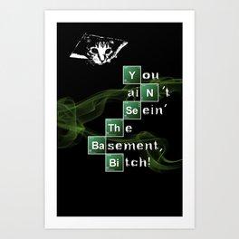 BrBa Basement Art Print