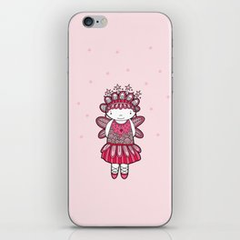 Pink Angel iPhone Skin