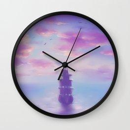 Weit Übers Meer Wall Clock