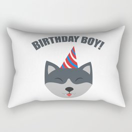 Boy Birthday Wolf Kids Children Party Celebration gift idea Rectangular Pillow
