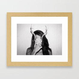 Deerhead Framed Art Print