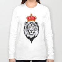 the lion king Long Sleeve T-shirts featuring Lion King by Libby Watkins Illustration