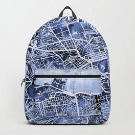 Edinburgh City Street Map Backpack