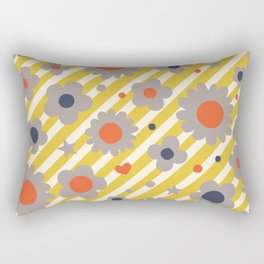 Punk Flower in Primary Rectangular Pillow