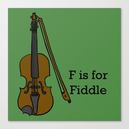 Fiddle, Typed Canvas Print