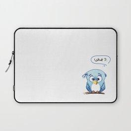 Funny owl Laptop Sleeve