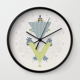 Grow Strong Mandala Wall Clock