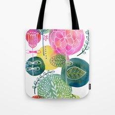 Blooming Circles Tote Bag