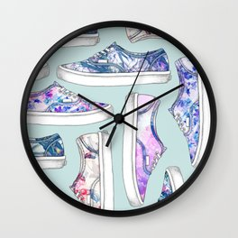 FLORAL SHOES Wall Clock