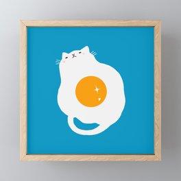 egg cat Framed Mini Art Print