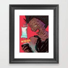 Death of a narcissist Framed Art Print