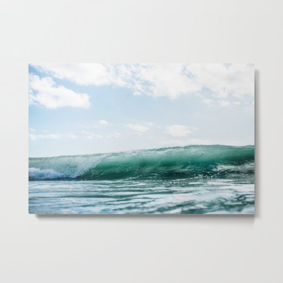 The Ocean Calms My Restless Soul Metal Print
