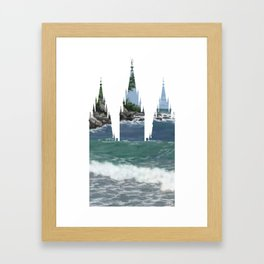 46e3cc0c6f97 Salt Lake Temple Rocky Coast Silhouette Framed Art Print
