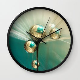 Dandy with Drops of Gold and Jade Wall Clock