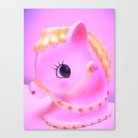 pony Canvas Prints featuring  pony by Vintage  Cuteness