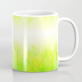 Neon Lemon Lime Abstract Coffee Mug