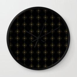 Gold Thread I Wall Clock