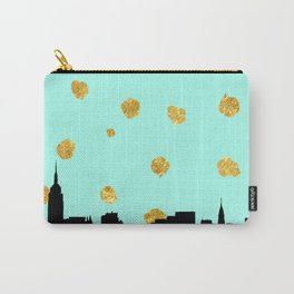 NYC Mint and Gold Carry-All Pouch