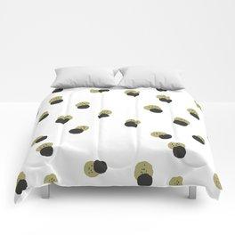 blots abstract minimal pattern Comforters