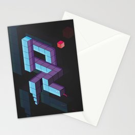snake 3d  Stationery Cards
