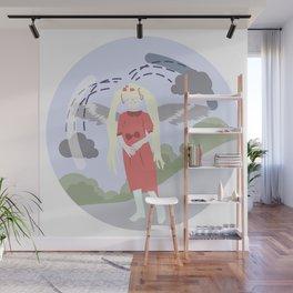 Nature-girl in globe Wall Mural