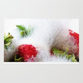 Strawberries in Focus Rug