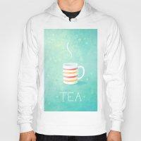 tea Hoodies featuring Tea by Freeminds